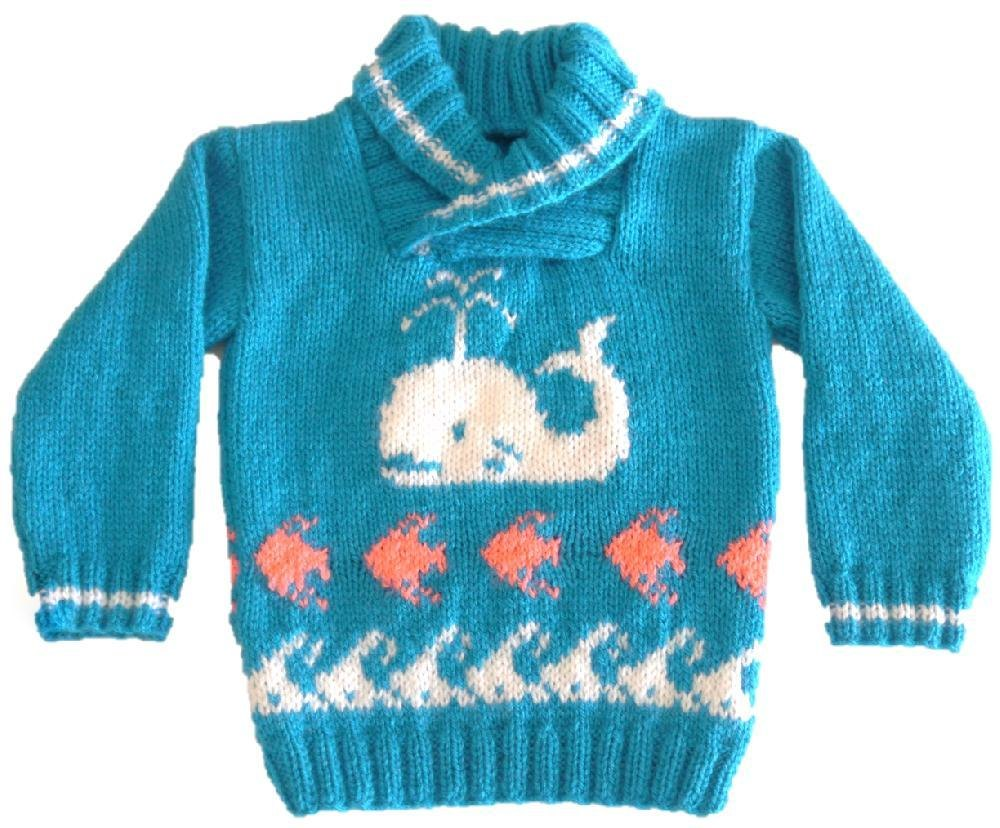 Whale Fish And Waves Sweater Knitting Pattern By Iknitdesigns