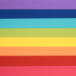 "LoveCrafts Rainbow Collection Heavyweight Cardstock 100lb 8.5"" x 11"" 16 Pack"
