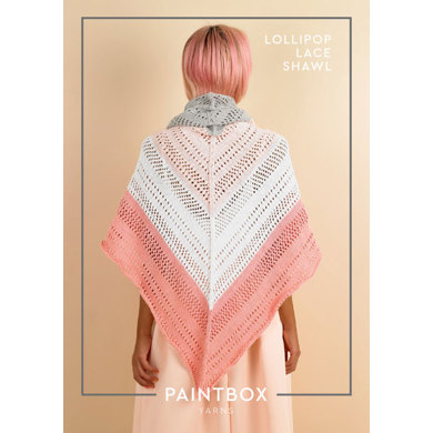 Lollipop Lace Shawl : Shawl Knitting Pattern for Women in Paintbox Yarns DK | Light Worsted Yarn