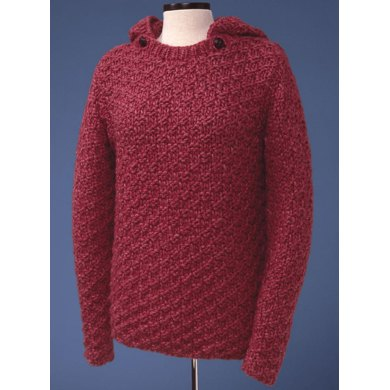 Box Stitch Pullover with Detachable Hood #139