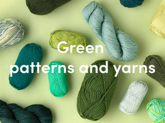 Knitting in green - from deep forest to emerald and jade