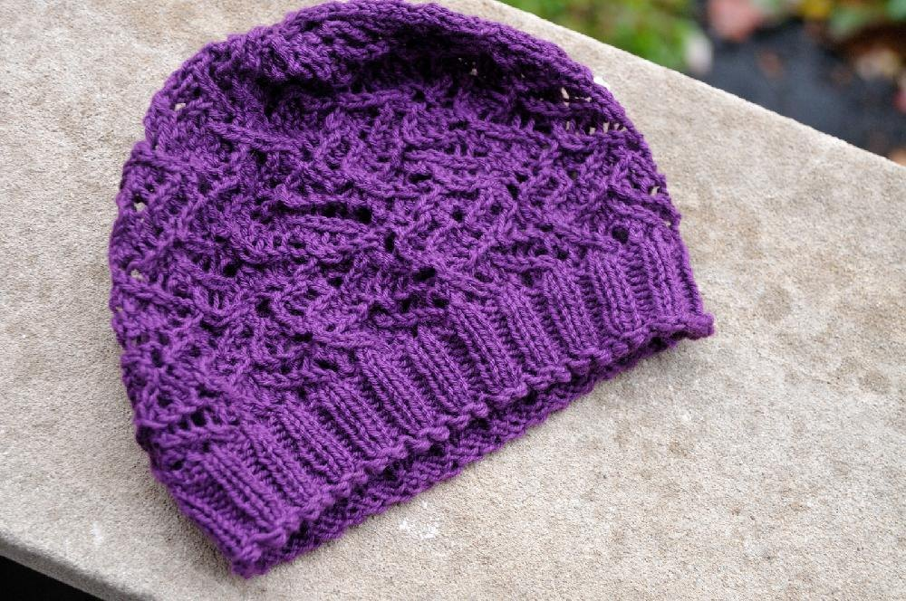 Easy Scarf Patterns To Knit : Night Jasmine Lace Hat Knitting pattern by Gina Mitchell Knitting Patterns ...