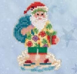 Mill Hill Santa Cruise Cross Stitch Kit - 2.5in x 3in