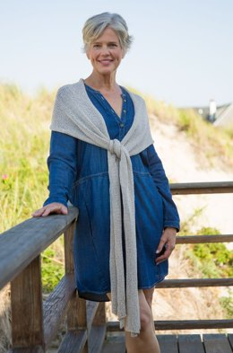 Rectangular Wrap in Classic Elite Yarns Calista - Downloadable PDF