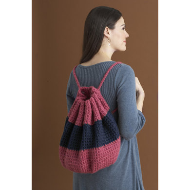 Super Summer Backpack in Lion Brand Wool-Ease Thick & Quick - 80406AD