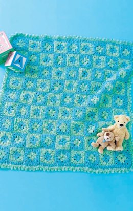 Crochet Baby Play Mat  in Red Heart Baby Clouds - LW1580