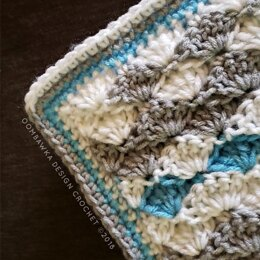 Solid Shell Stitch Blanket