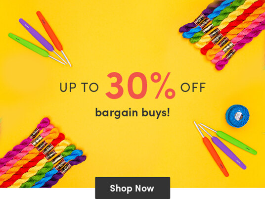 Up to 30 percent off bargain buys!