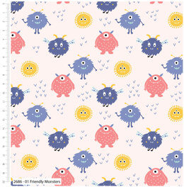 Craft Cotton Company Cutest Little Monsters - Friendly Monster
