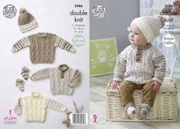 Sweaters, Hat & Socks in King Cole Cherish & Cherished DK - 5086 - Leaflet