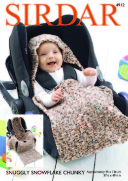 Car Seat Blanket in Sirdar Snuggly Snowflake Chunky - 4912 - Downloadable PDF