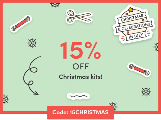 15 percent off Christmas kits & threads! One day only! Code: 15CHRISTMAS