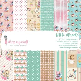 """Dress My Crafts Single-Sided Paper Pad 6""""X6"""" 24/Pkg - Little Miracle, 12 Designs/2 Each"""