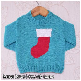 Intarsia -  Simple Christmas Stocking - Chart Only