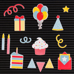 American Crafts DCWV Letterboard Icons 14/Pkg - Party