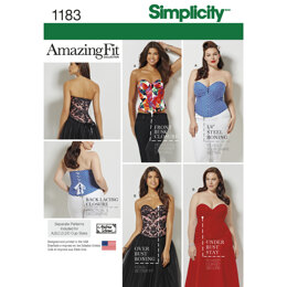 Simplicity Women's and Plus Size Corsets 1183 - Sewing Pattern