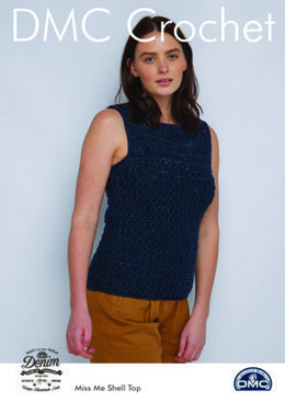 Miss Me Shell Top in Natura Denim in DMC - 15457L/2 - Leaflet