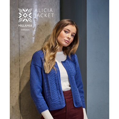 Alicia Jacket in MillaMia Naturally Soft Merino - Downloadable PDF
