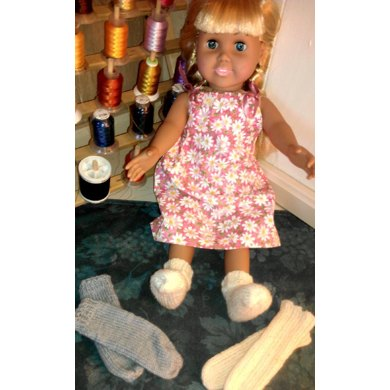 EZ Tube Socks for 18-inch Dolls