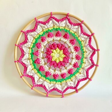 Mindful Mandala in a hoop