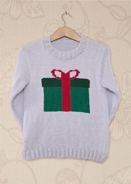 Intarsia - Present Chart - Childrens Sweater