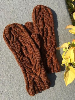 Almy Cabled Mittens