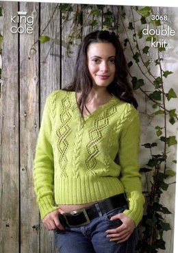 Sweater and Slipover King Cole Bamboo Cotton DK - 3068