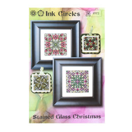 Ink Circles Stained Glass Christmas - NKM72 -  Leaflet