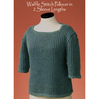 Waffle Stitch Pullover in 2 Sleeve Lengths #136