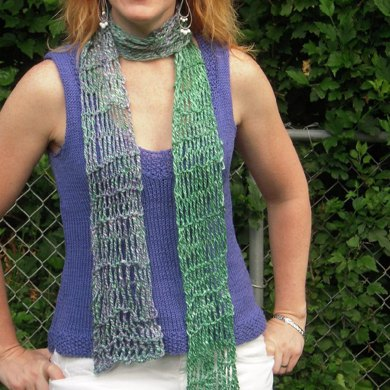Handspun Twisted Drop Stitch Scarf