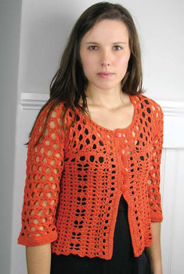 Crochet Miami Cardie in knit One Crochet Too Cozette - 1983 - Downloadable PDF