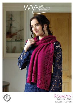 Rosalyn Lace Triangular shawl in West Yorkshire Spinners Exquisite Lace - Downloadable PDF