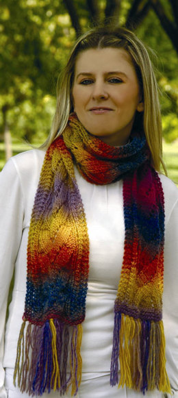 Agave Scarf Pattern in Wisdom Yarns Poems