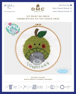 "DMC Me To You - Tatty Teddy & Tiny Tatty Teddy - Apple Beanie (with 5"" hoop) - 12.5cm"