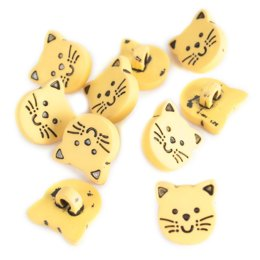 Kitten Buttons - Yellow