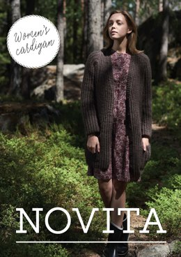Women's Cardigan in Novita Natura - Downloadable PDF