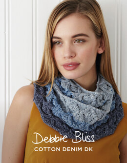 Nicole Cowl in Debbie Bliss Cotton Denim DK - DBS048 - Downloadable PDF