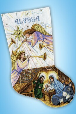 Design Works Herald Angels Stocking Counted Cross Stitch Kit