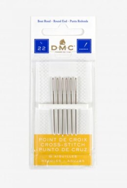DMC 6 Cross Stitch Needles (Size 22)
