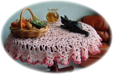112th Scale Round Tablecloth Crochet Pattern By Frances Powell