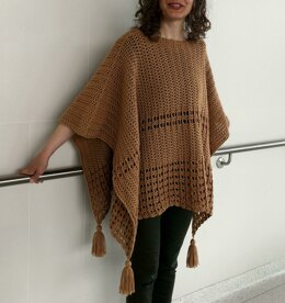 Crochet Poncho Pattern: Sew Easy Two-Rectangle Poncho