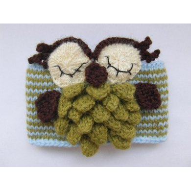 Owl mug cozy (knitted version)
