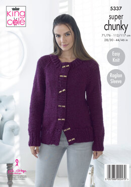 Sweater & Cardigan in King Cole Big Value Super Chunky - 5337 - Leaflet