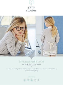 Pebble Cardigan and Pouch in Yarn Stories Fine Merino DK - Downloadable PDF
