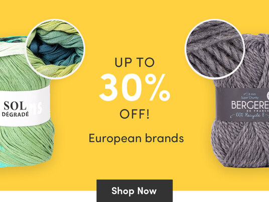 Up to 30 percent off European brands