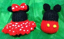Mickey and Minnie Mouse Christmas Baubles