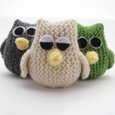 Owl Knitting Pattern By Natty Knits Crochet Patterns Lovecrochet