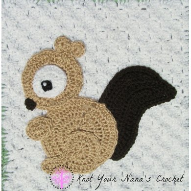 Squirrel Applique Crochet Pattern By Teri Heathcote