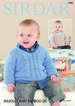 Sweaters in Sirdar Snuggly Baby Bamboo DK - 4784 - Downloadable PDF