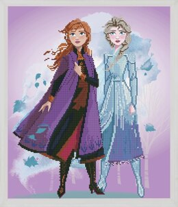 Vervaco Disney Frozen 2: Elsa & Anna Diamond Painting Kit - 47 x 55cm